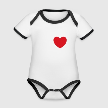 I love my dog ​​saying gift idea - Organic Baby Contrasting Bodysuit