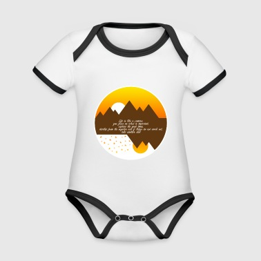 Life is like a camera - Organic Baby Contrasting Bodysuit