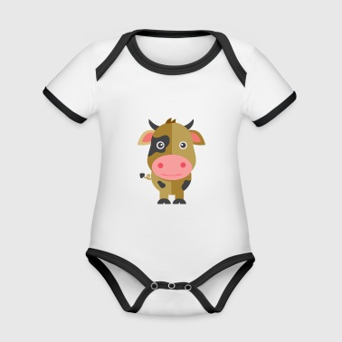 cow - Organic Baby Contrasting Bodysuit