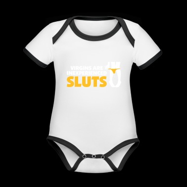 A Virgin Is An Inexperienced Sluts - Organic Baby Contrasting Bodysuit