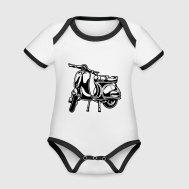 Scooter 01_black - Organic Baby Contrasting Bodysuit