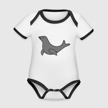 seal - Organic Baby Contrasting Bodysuit