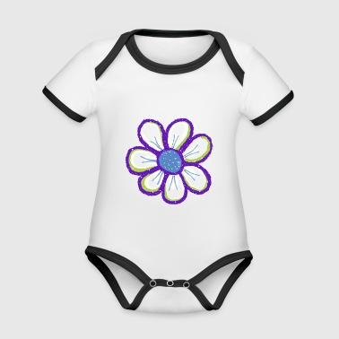 flower - Organic Baby Contrasting Bodysuit