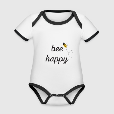 Bee Happy - Organic Baby Contrasting Bodysuit