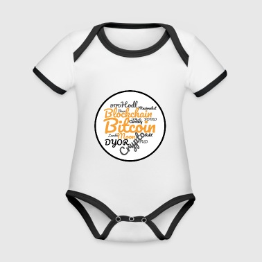 Bitcoin Tag Cloud - Organic Baby Contrasting Bodysuit