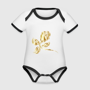 gold Rose - Organic Baby Contrasting Bodysuit