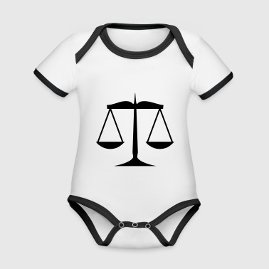 Libra of justice - Organic Baby Contrasting Bodysuit