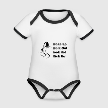 Sport Motivation - Baby Bio-Kurzarm-Kontrastbody
