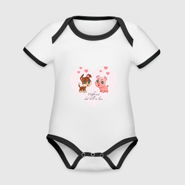 different - Organic Baby Contrasting Bodysuit