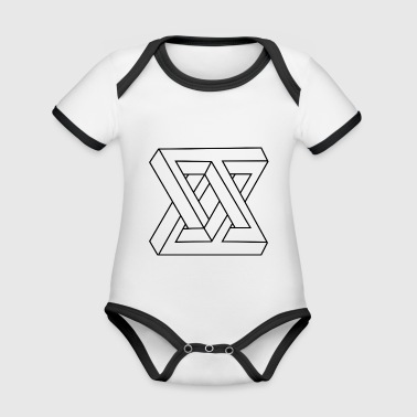 Impossible form black - Organic Baby Contrasting Bodysuit