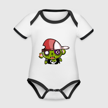 zombie hiphop - Organic Baby Contrasting Bodysuit