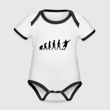 soccer player soccer football team3 - Organic Baby Contrasting Bodysuit