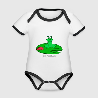 Molly the frog - Organic Baby Contrasting Bodysuit
