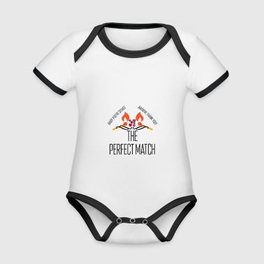 The perfect match - Organic Baby Contrasting Bodysuit