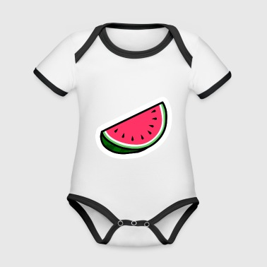 Watermelon - Organic Baby Contrasting Bodysuit