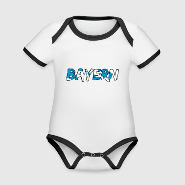 Bavaria lettering - Organic Baby Contrasting Bodysuit
