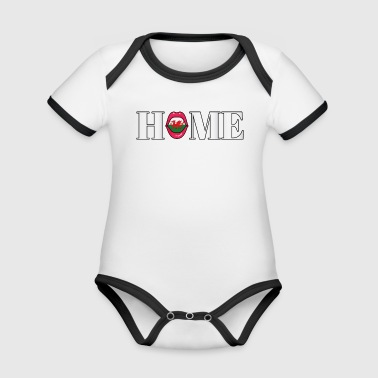 Wales Home gift - Organic Baby Contrasting Bodysuit