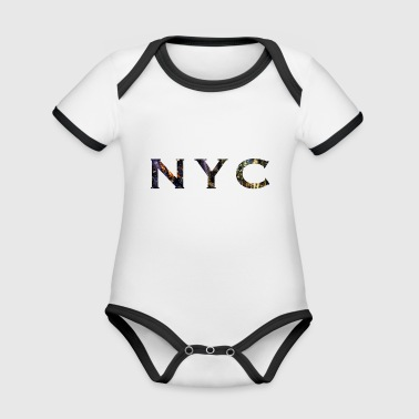 New York City NYC - Organic Baby Contrasting Bodysuit