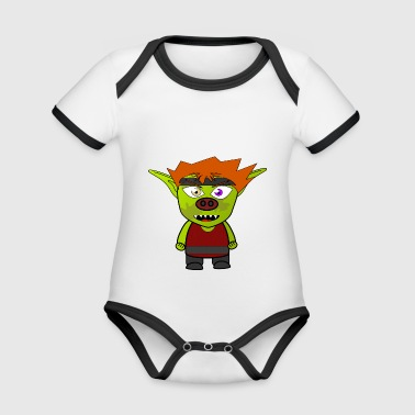 Cartoon character - Organic Baby Contrasting Bodysuit