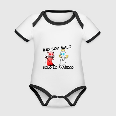 I'M NOT BAD - Organic Baby Contrasting Bodysuit
