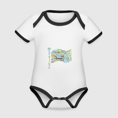 word typography - Organic Baby Contrasting Bodysuit