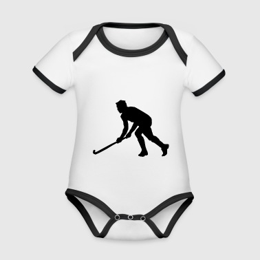 Hockey player - Organic Baby Contrasting Bodysuit