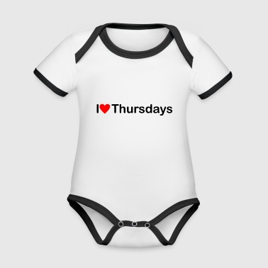 Thursday | I love Thursdays - Organic Baby Contrasting Bodysuit