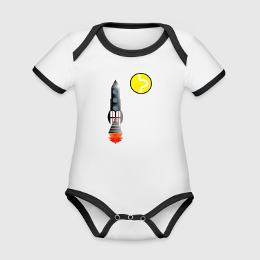tennis mission - Organic Baby Contrasting Bodysuit