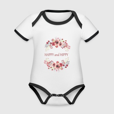 Happy and Hippy - Organic Baby Contrasting Bodysuit