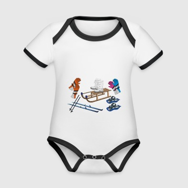 winter objects - Organic Baby Contrasting Bodysuit