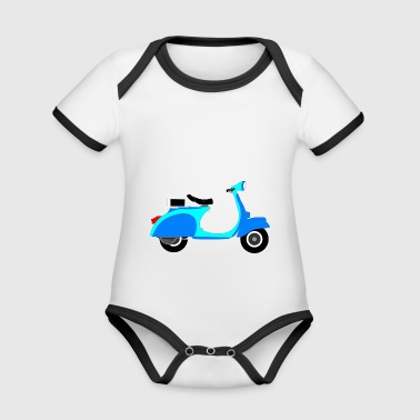 Blue Scooter - Organic Baby Contrasting Bodysuit