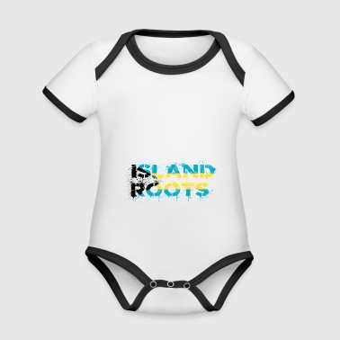 Bahamas roots - Organic Baby Contrasting Bodysuit