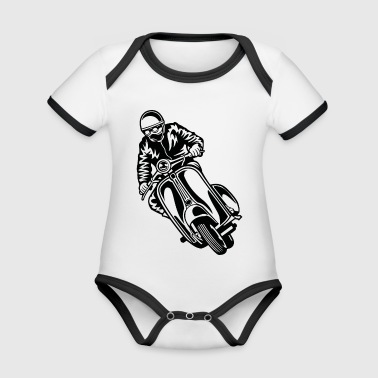 Scooter 04_black - Organic Baby Contrasting Bodysuit