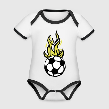 soccer ball soccer flame fire flame - Organic Baby Contrasting Bodysuit