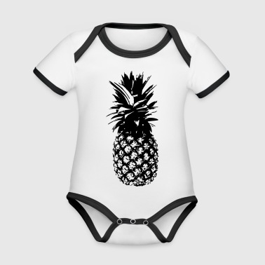Pineapple - Organic Baby Contrasting Bodysuit