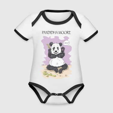 Pandidha Moore lilac background - Organic Baby Contrasting Bodysuit