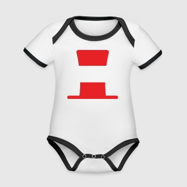 Austria flag football hipster fan - Organic Baby Contrasting Bodysuit