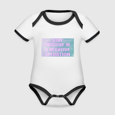 Motivations spruch - Baby Bio-Kurzarm-Kontrastbody