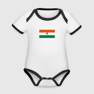 Music India - Organic Baby Contrasting Bodysuit