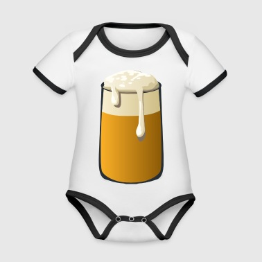 Glass of Beer - Organic Baby Contrasting Bodysuit