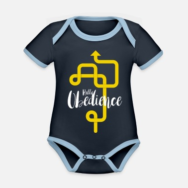 Rally Obedience Rally Obedience - Organic Contrast Baby Bodysuit