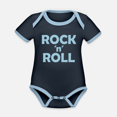 Evolution Rock n Roll Shirt - Baby Bio Kurzarmbody zweifarbig