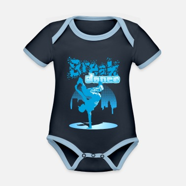 Breakdance City breakdance - Baby Bio Kurzarmbody zweifarbig
