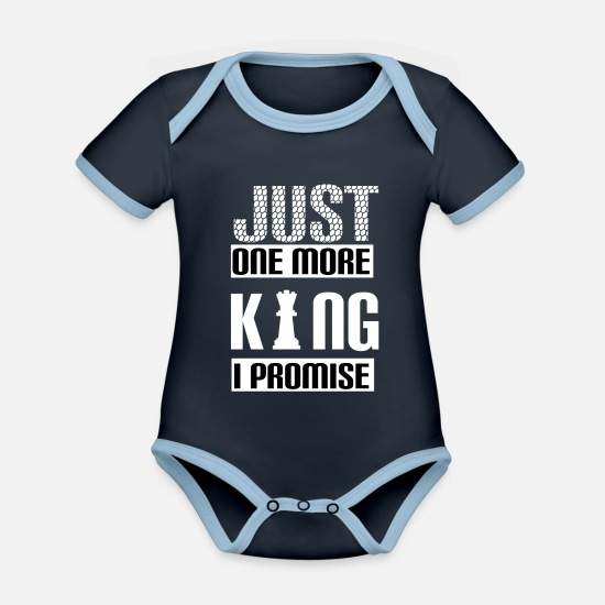 Guitar Baby Clothes - Guitar Musician Music Instrument Love Love Heart - Organic Contrast Baby Bodysuit navy/sky