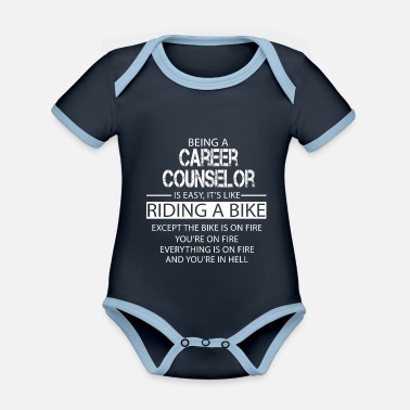 Career Career Counselor - Organic Contrast Baby Bodysuit