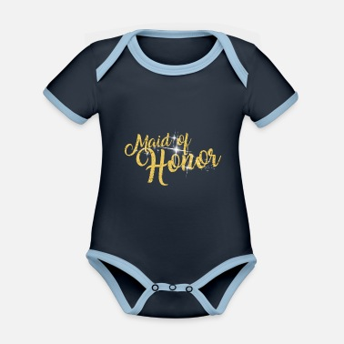 Staggette Maid Of Honor Bachelorette Party - Baby Bio Kurzarmbody zweifarbig