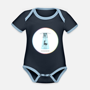 Saucer FLYING SAUCER - Organic Contrast Baby Bodysuit