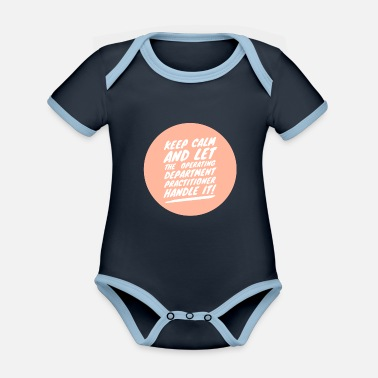 Operating Department Practice Keep calm 2 - Organic Contrast Baby Bodysuit