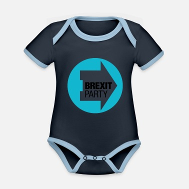 Brexit Brexit Party - Organic Contrast Baby Bodysuit