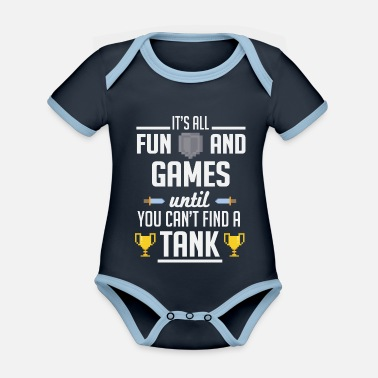 Geek gamer shirt: I cant find a tank - Kontrast babybody